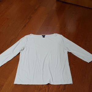 White 3/4 sleeve t-shirt